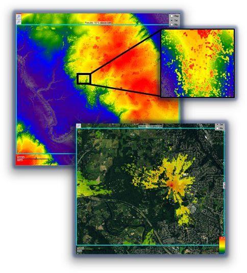 LIDAR based propagation model