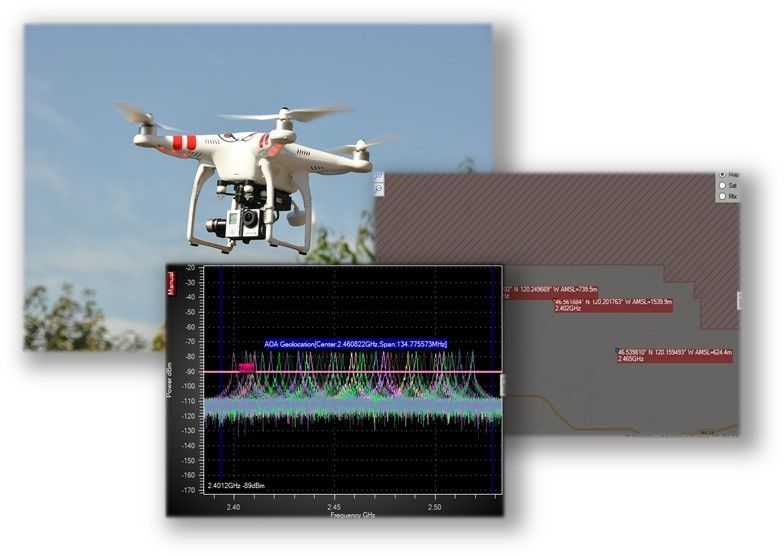 RF control signal detection of drones